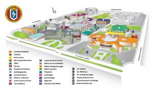 Mapa del Hospital Universitario